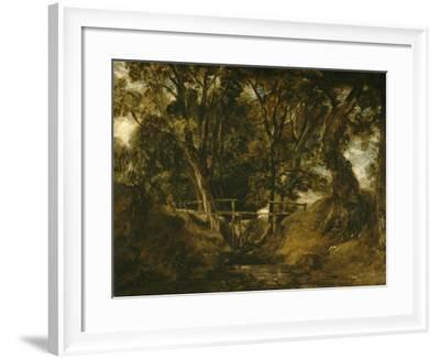 Helmingham Dell. Vallon dans le parc de Helmingham (Suffolk)-John Constable-Framed Giclee Print