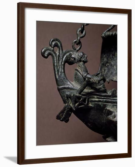 Helmsman, Detail from Bronze Lamp in the Shape of Ship, Early Christian Period--Framed Giclee Print