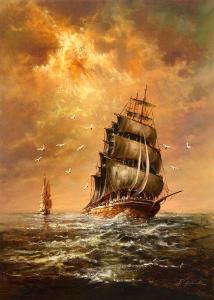 Stormy Weather by Helmut Glassl