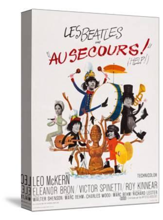 Help!, (AKA Au Secours!), French Poster Art, Top: Ringo Starr, Paul Mccartney; Bottom