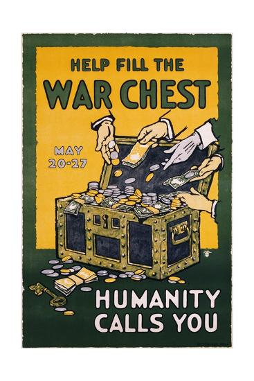 Help Fill the War Chest Poster--Giclee Print