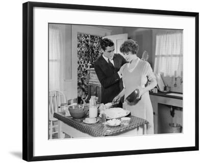 Help in the Kitchen--Framed Photo