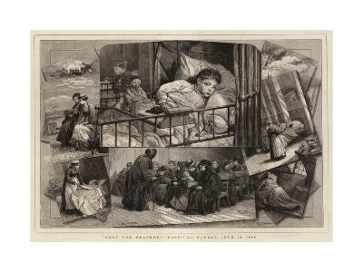 Help the Helpers!, Hospital Sunday, 13 June 1880-Charles Joseph Staniland-Giclee Print