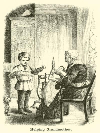 Helping Grandmother--Giclee Print