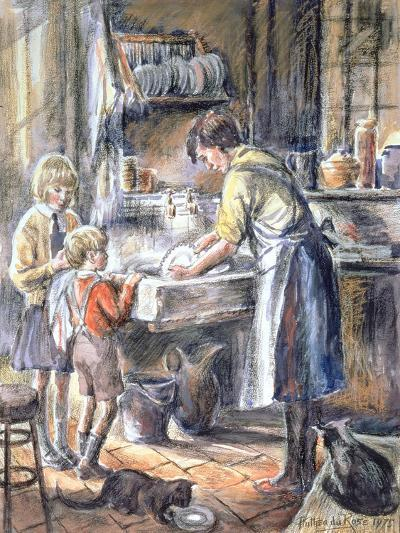 Helping with the Washing Up, 1975-Anthea Durose-Giclee Print