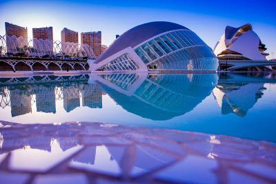 Hemispheric Buildings, City of Arts and Sciences, Valencia, Spain, Europe-Laura Grier-Photographic Print