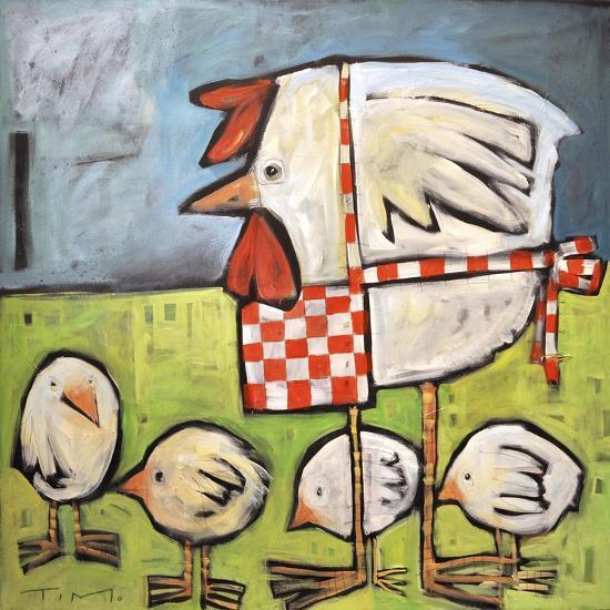 Hen and Chicks after Storm-Tim Nyberg-Premium Giclee Print