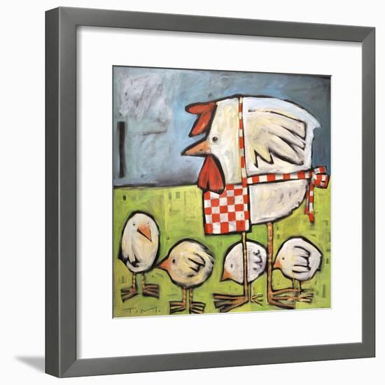 Hen and Chicks after Storm-Tim Nyberg-Framed Premium Giclee Print