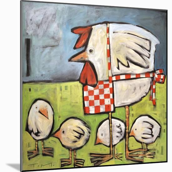 Hen and Chicks after Storm-Tim Nyberg-Mounted Premium Giclee Print