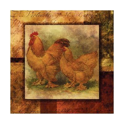 Hen and Rooster II- Studio Voltaire-Art Print