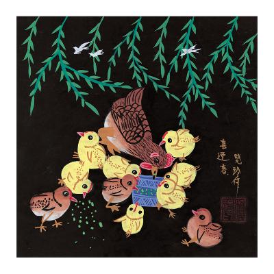 Hen and Ten Chicks--Giclee Print