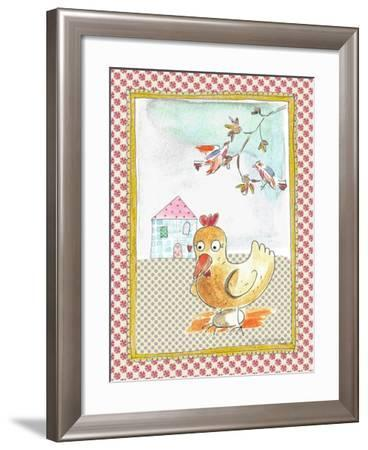 Hen with Egg-Effie Zafiropoulou-Framed Giclee Print