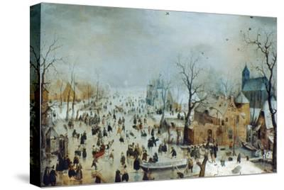 Winter Scene with Ice Skaters, C1608