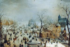 Winter Scene with Ice Skaters, C1608 by Hendrick Avercamp