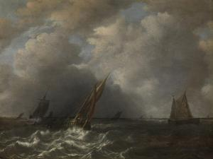Storm on the Meuse River by Hendrick Martensz Sorgh