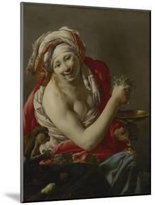 Bacchante with an Ape, 1627 by Hendrick Ter Brugghen