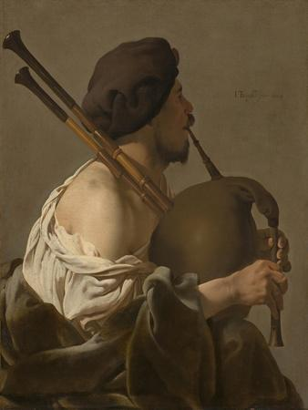 Bagpipe Player, 1624