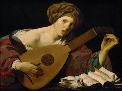 Lute player, 1624-1626