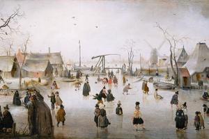 Ice Sports, C.1610 by Hendrik Avercamp