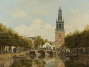 The Torensluis and the Jan Roodenpoortstoren in Amsterdam, by Hendrik Gerrit Ten Cate, 1829 by Hendrik Gerrit ten Cate