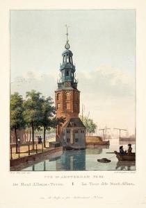 Vue D'Amsterdam No.32. De Mont Albans-Toren. La Tour Dite Mont-Alban, 1825 by Hendrik Gerrit ten Cate