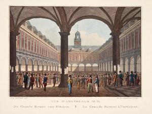 Vue D'Amsterdam No.33. De Groote Beurs Van Binnen. La Grande Bourse Á L'Intérieur, 1825 by Hendrik Gerrit ten Cate