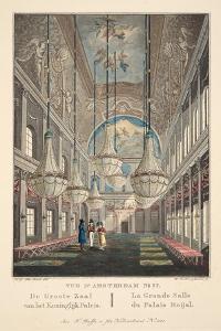 Vue D'Amsterdam No.37. De Groote Zaal Van Het Koninglijk Paleis. La Grande Salle Du Palais Roijal by Hendrik Gerrit ten Cate