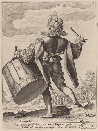 Drummer, engraved by Jacques II de Gheyn, 1587