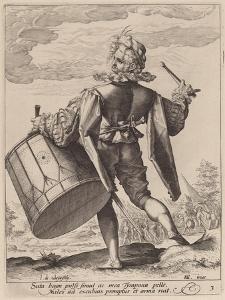 Drummer, engraved by Jacques II de Gheyn, 1587 by Hendrik Goltzius