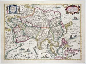 Arabia, Japan, the Korean Peninsula and the Greater Part of the Indonesian Archipelago, 1631 by Hendrik I Hondius