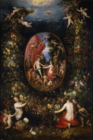 Cybele and Seasons, before 1618