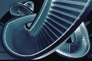 Blue Stair by Henk Van