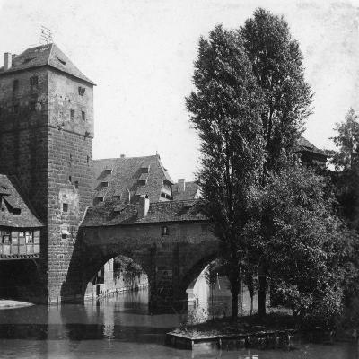 Henkersteg (The Hangman's Bridg), Nuremberg, Bavaria, Germany, C1900s-Wurthle & Sons-Photographic Print