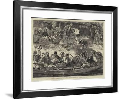 Henley-On-Thames Regatta, Picknicking by the Riverside-Francis S. Walker-Framed Giclee Print