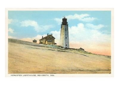 Henlopen Lighthouse, Rehoboth, Delaware--Art Print