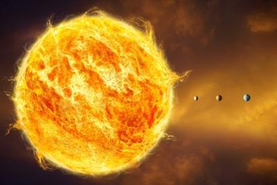Inner Solar System, Artwork by Henning Dalhoff