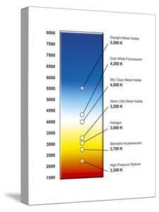 Light Bulb Colour Temperature Spectrum by Henning Dalhoff