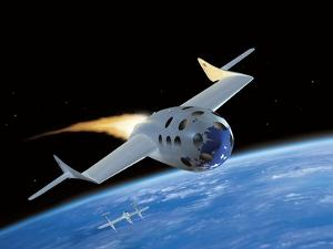 SpaceShipOne, Artwork by Henning Dalhoff