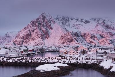 Henningsvaer (Fishing Village), Ausvagoya (Island), Lofoten, 'Nordland' (County), Norway-Rainer Mirau-Photographic Print