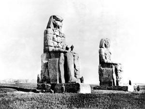 The Colossi of Memnon, Thebes, Nubia, Egypt, 1887 by Henri Bechard