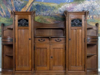 Art Nouveau Style Welsh Dresser, Part of Dining Room Set, 1905-1908