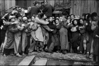 Gold Distribution, Shanghai, China, 1949 by Henri Cartier-Bresson