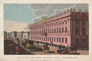 The Marble Palace in Saint Petersburg, C. 1811 by Henri Courvoisier-Voisin