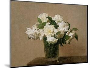 Vase with white Roses. 1885 by Henri De Fantin-latour