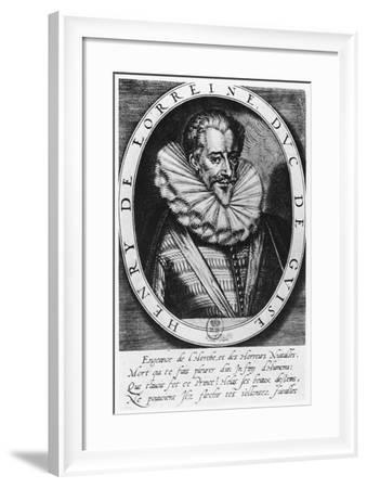 Henri De Lorraine, Duc De Guise-Thomas de Leu-Framed Giclee Print