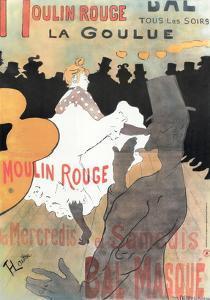 1891 Moulin Rouge La Goulue (1bande) by Henri de Toulouse-Lautrec