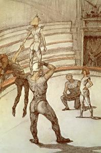 Acrobats in the Circus by Henri de Toulouse-Lautrec