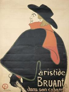 Affiche : Aristide Bruant dans son cabaret. by Henri de Toulouse-Lautrec