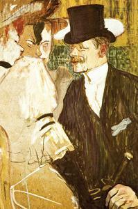 Anglais at Moulin Rouge by Henri de Toulouse-Lautrec
