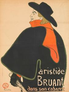 Aristide Bruant in His Cabaret, 1893 by Henri de Toulouse-Lautrec